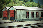 Railroad Woodshed 2 Print by Holly Blunkall