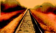 Oil Pastel Digital Art - Rails by Garry Staranchuk