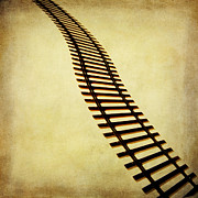 Railroad Metal Prints - Railway Metal Print by Bernard Jaubert