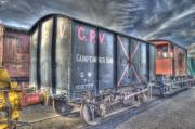 Carriages Art - Railway Gunpowder Wagon by Chris Thaxter