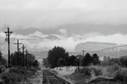 Lyons Prints - Railway into the Clouds BW Print by James Bo Insogna