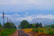 Front Range Art - Railway into the Clouds by James Bo Insogna