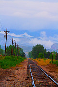 Trains Photos - Railway into the Clouds Vertical by James Bo Insogna
