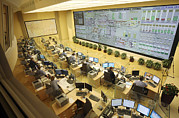 Control Room Photo Posters - Railway Network Control Room Poster by Ria Novosti