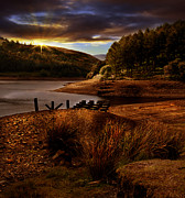 Derwent Reservoir Prints - Railway Pillars Print by Nigel Hatton