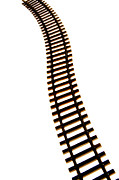Cutouts Posters - Railway tracks Poster by Bernard Jaubert