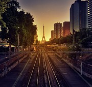 Paris Photo Prints - Railway Tracks Print by Stéphanie Benjamin