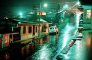 Major Prints - Rain at night in San Jose Print by Heiko Koehrer-Wagner
