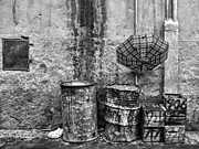 Rain Bw Marrakesh Print by Chuck Kuhn