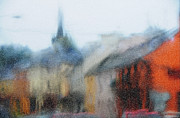 Gloomy Framed Prints - Rain. Carrick on Shannon. Impressionism Framed Print by Jenny Rainbow