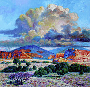 Painted Paintings - Rain Clouds Over Painted Desert by John Lautermilch