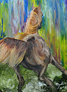 Impressionistic Horse Paintings - Rain Dancer by Michael Lee