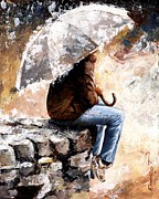 Rain Paintings - Rain day by Emerico Imre Toth