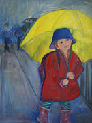 Raining Paintings - rAiN DrOpS by Anna Mize Bell