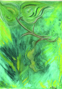 Forest Pastels Originals - Rain Forest Revisited by Mary Zimmerman