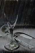 Champagne Glasses Photos - Rain Glasses by Sarah Broadmeadow-Thomas