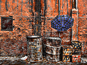 Rain In Marrakesh Print by Chuck Kuhn