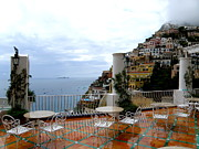 Searcy Prints - Rain in Positano Print by Tanya  Searcy