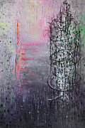 Paiting Metal Prints - Rain in the Bird Cage Metal Print by Lolita Bronzini