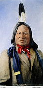Sioux Photos - RAIN-IN-THE-FACE (d.1905) by Granger