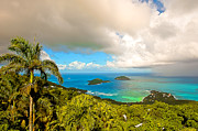 Charlotte Amalie Prints - Rain in the Tropics Print by Keith Allen