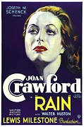 Postv Framed Prints - Rain, Joan Crawford, 1932 Framed Print by Everett