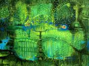 Surrealistic Painting Originals - Rain Land II by Lolita Bronzini