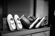 Black And White Photography Photos - Rain Shoes by Snap Shooter jp