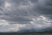 Panamint Valley Photos - Rain Squalls Hover Over Panamint Range by Gordon Wiltsie