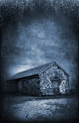 Shed Metal Prints - Rain Metal Print by Svetlana Sewell