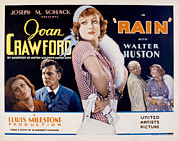 Ogling Prints - Rain, Walter Huston, Joan Crawford, Guy Print by Everett