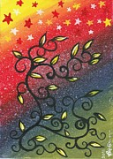 Pride Paintings - Rainbow and Stars by Beverly Burris