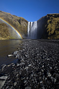 Sven Brogren Prints - Rainbow and Waterfall Print by Sven Brogren
