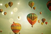 Celebration Art Print Photo Prints - Rainbow Balloon Enchantment Print by Andrea Hazel Ihlefeld