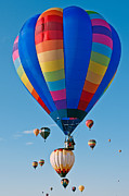 Fiesta Metal Prints - Rainbow Balloon Metal Print by Jim Chamberlain