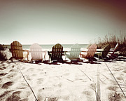 Florida Prints - Rainbow Beach-Sepia Play Print by Chris Andruskiewicz