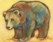 Grizzly Bear Paintings - Rainbow Bear Grizzly Bear by Carol Suzanne Niebuhr