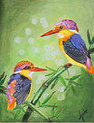 Kingfisher Originals - Rainbow bird-Oriental Dwarf kingfisher by Greeshma Manari