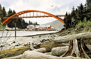 Pacific Northwest Framed Print Posters - Rainbow Bridge Poster by James Williamson