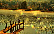 Water Scenes Metal Prints - Rainbow Dock Metal Print by Emily Stauring
