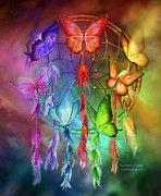 Dreamcatcher Art Mixed Media - Rainbow Dreams by Carol Cavalaris