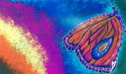 Healing Art Paintings - Rainbow Effect by Carey Waters
