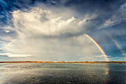 Lake Metal Prints - Rainbow Metal Print by Evgeni Dinev