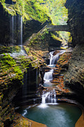Finger Lakes Photo Metal Prints - Rainbow Falls Metal Print by Adam Pender