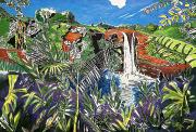 Tropic Paintings - Rainbow Falls by Fay Biegun - Printscapes
