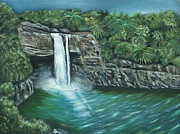 Tropical Island Originals - Rainbow Falls of Hawaii by Brandon Hebb