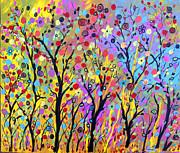 Rainbow Fantasy Garden Print by Sue Holman