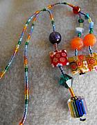 Book Mark Jewelry - Rainbow Fiori by Rhiannon Strickler