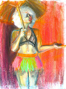 Figure Drawing Pastels Prints - Rainbow Print by Gabrielle Wilson-Sealy