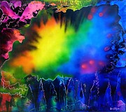Trippy Paintings - Rainbow Haze by Rylee Stearnes